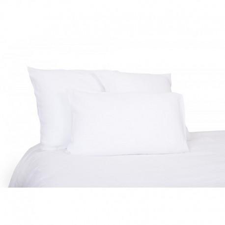 Housse de couette lin lavé housse de couette stone wash Viti - Blanc - Harmony Textile