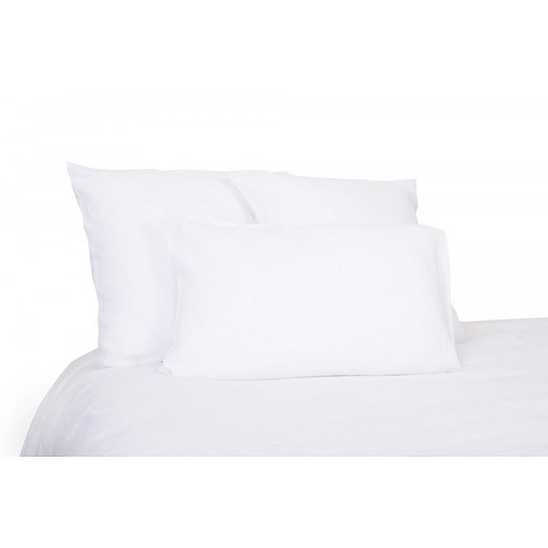 drap housse lin lav drap viti lin stone wash blanc. Black Bedroom Furniture Sets. Home Design Ideas