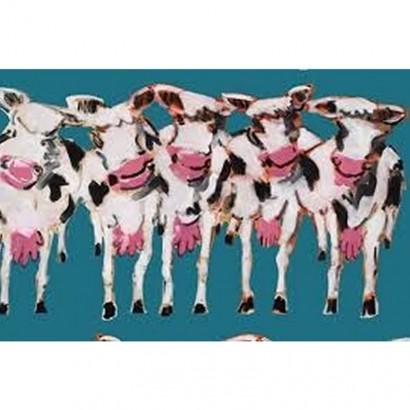 Tissu coton - Les vaches - Peintre Plattier - Tissu Thevenon