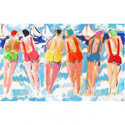 Tissu coton - Les soeurs - Peintre Plattier - Tissu Thevenon
