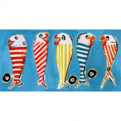 Tissu coton - Les poissons - Peintre Plattier - Tissu Thevenon