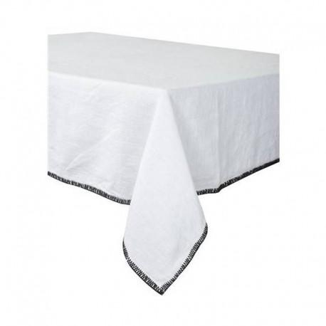 Nappe LETIA lin lavé - Blanc