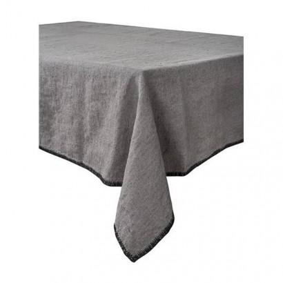 Nappe LETIA lin lavé - Granit (gris foncé)