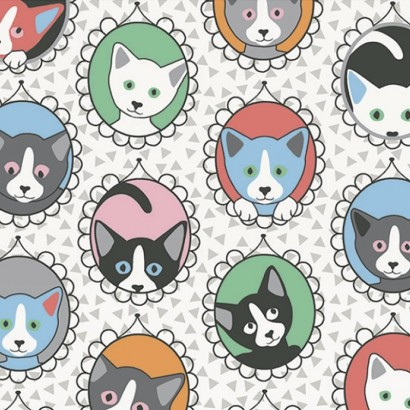 Tissu coton -Chats Family Multicolore - 160cm