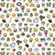 Tissu coton - Funny Badges - 160cm