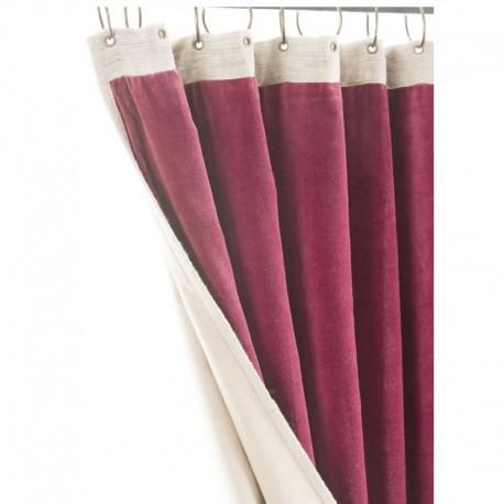 Rideau velours rideau rouge Médicis en Fil d Indienne Toiles de Ré