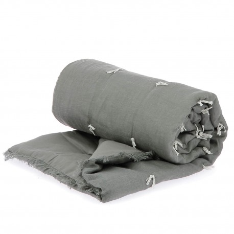 Bout de lit matelassé 90 x 200 - En Fil d'Indienne - ANTHRACITE