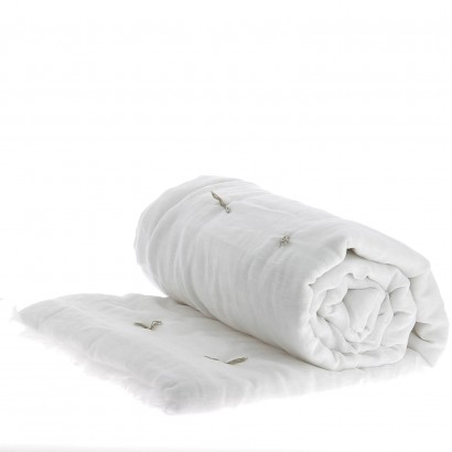 Bout de lit matelassé 90 x 200 - En Fil d'Indienne - BLANC