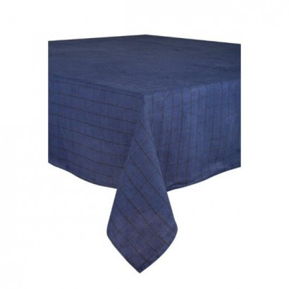 Nappe Chieti lin lavé - Harmony Textile  - INDIGO