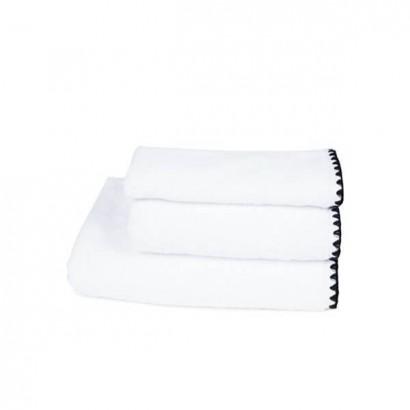 Serviettes de bain éponge ISSEY - BLANC