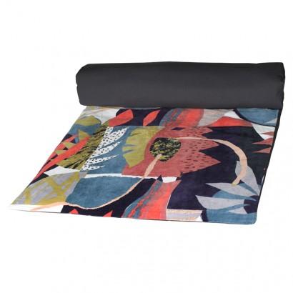PAPER CUT Housse d'édredon coton velours  85 x 200 cm Harmony Textile- INDIGO