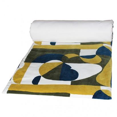 ARTY Housse d'édredon velours coton - Harmony textile 85 x 200 cm - CELADON