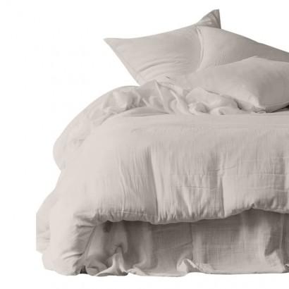 Drap plat DILI voile de coton - Harmony Textile - 270 x 300 cm - LIN
