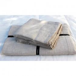 Nappe Naïs et serviette de table lin lavé  - LIN