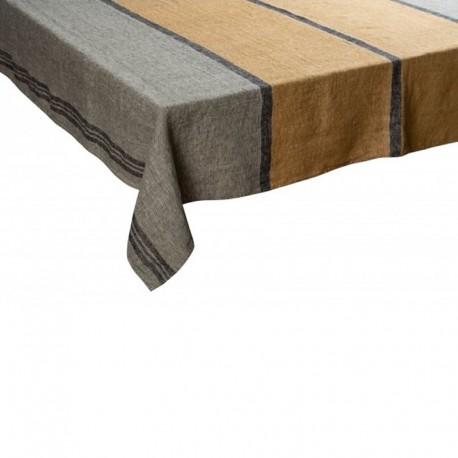 Nappe Rimini Kaki lin tissé teint Harmony textile