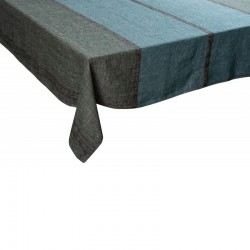 Nappe Rimini mélèze lin tissé teint Harmony textile