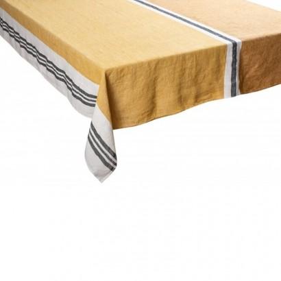Nappe Trevise safran lin tissé teint Harmony textile