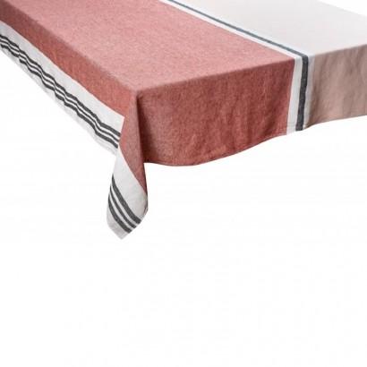 Nappe Trevise argile lin tissé teint Harmony textile