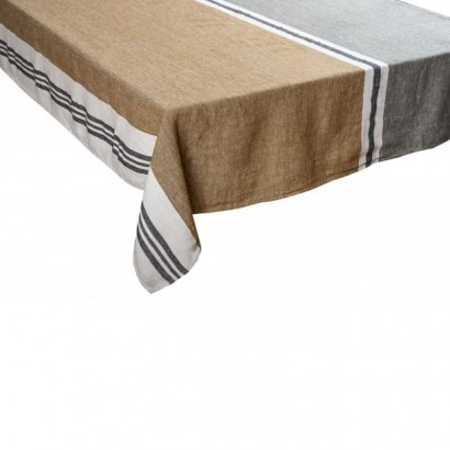 Nappe Trevise kaki lin tissé teint Harmony textile