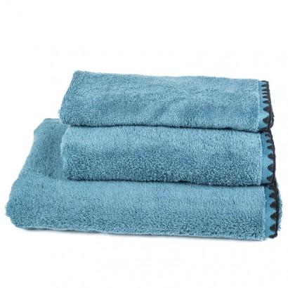 Serviettes de bain éponge ISSEY Harmony textile - BLEU STONE