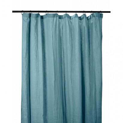 Rideau DILI coton Harmony textile - BLEU DE PRUSSE