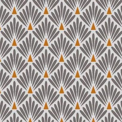 Ecailles dorées - Coton enduit - 160cm - GRIS