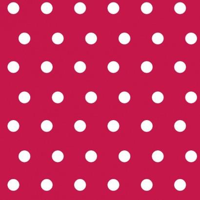 PEAS - Tissu enduit 100% coton - STOF - 155cm - ROUGE
