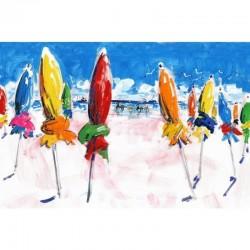 Tissu coton - VILLE D'EAU- Peintre Plattier - Tissu Thevenon 140 cm de large