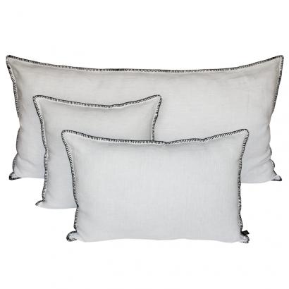 Mansa housse de coussin Harmony Textile - BLANC