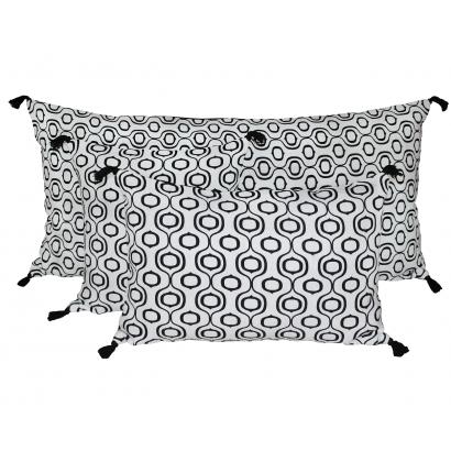 Ubud housse de coussin Harmony Textile - BLANC