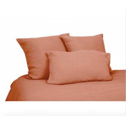 Housse de couette lin lavé Viti - Brick - Harmony textile