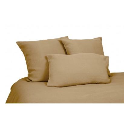 Housse de couette lin lavé Viti - Tabac - Harmony textile