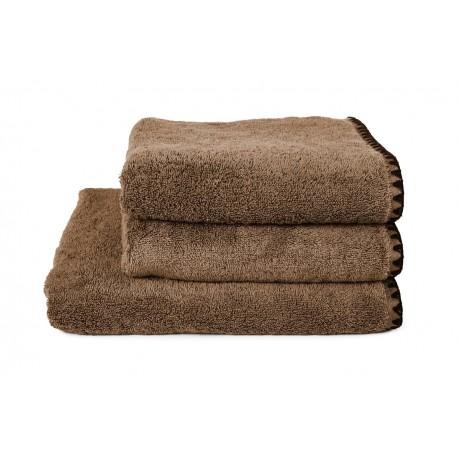 Serviettes de bain éponge ISSEY - Tabac