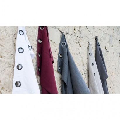 Rideaux lin lavé Propriano - Blanc - Rideau Harmony textile