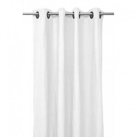 rideau lin lav propriano rideau oeillet lin stone wash harmony blanc. Black Bedroom Furniture Sets. Home Design Ideas