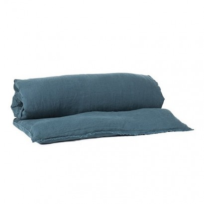 Housse d'édredon Viti - lin lavé - Harmony textile - BLEU DE PRUSSE (bleu foncé vert)